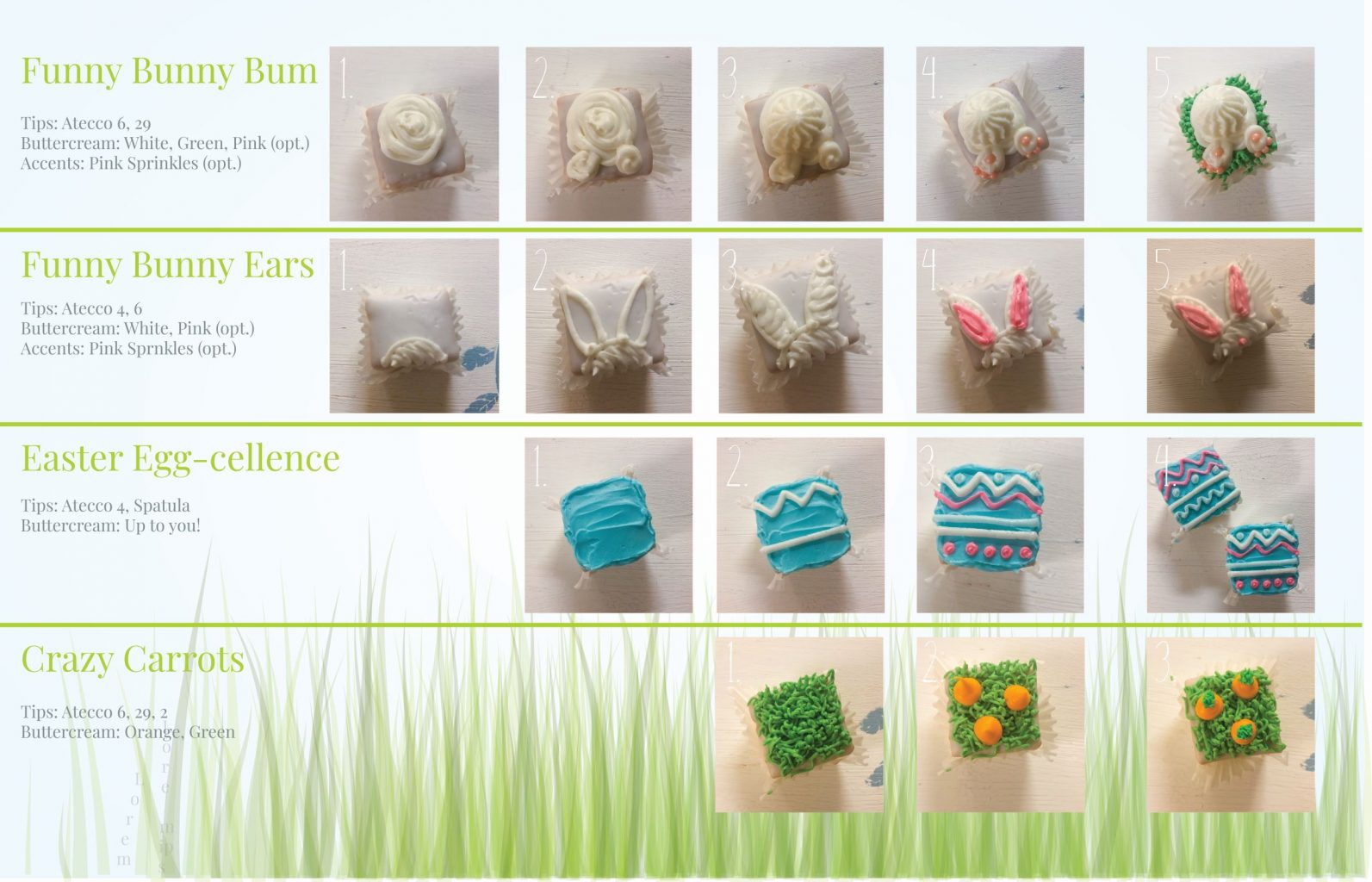 Step-by-Step Instructions on our Favorite Easter Petit Fours!